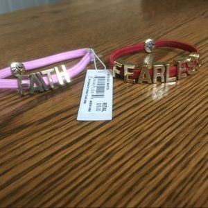 """Fearless"" & ""Faith"" bracelets"